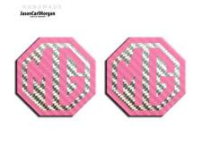 MG TF 02-06 Badge Inserts Front & Rear Set 70mm Emblem Logo Badges Pink Carbon