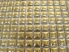 81  Mosaic Tiles 10 x10 x 4mm Tessera. Ceramic Glazed..Gold