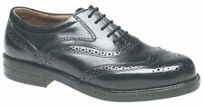 MENS SIZE 7 8 9 10 11 12 13 14 BLACK LEATHER CLASSIC BROGUE LACE UP OFFICE SHOES