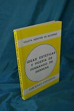 Montori de Gutierrez Ideas Estéticas y Poesía de Fernando de Herrera