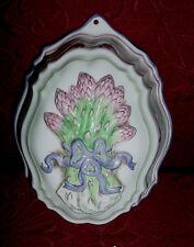 Franklin Mint Le Cordon Bleu Jello Mold Asparagus Oval Shaped Porcelain vtm