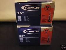 2x SCHWALBE 20 X 1.35 BICYCLE INNER TUBES PRESTA VALVE