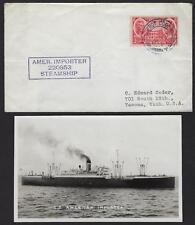 US Irlande 1937 Expédié At Mer Paquebot Cobh County Liège Sur Navire à Vapeur Ss