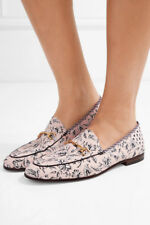 Sam Edelman 'Loraine' leather-trimmed printed canvas loafers shoes Size 6 1/2