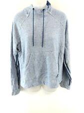 ADIDAS Womens Hoodie Jumper XL Blue Cotton & Polyester
