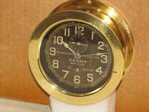 CHELSEA  ANTIQUE U.S.NAVY BOAT CLOCK~3 INCH DIAL~1910 ~PRE-WW1~RESTORED