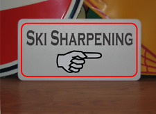 Ski Sharpening arrow Metal Sign