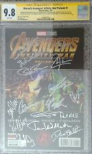 Marvel's Avengers: Infinity War Prelude #1_CGC 9.8 SS_Signed by 17 cast members