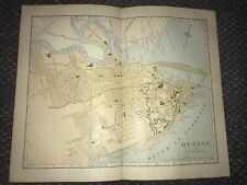 1889 Phillips Hunt Map Quebec Canada