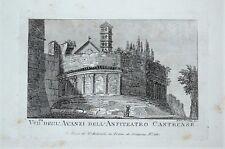 c18-35 Gravure veduta Degl'Avanzi dell'Anfiteatro Castrense
