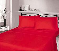 Linge de lit et ensembles rouge contemporains en 100% coton
