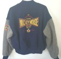 Disney Mickey Mouse Wool Varisty Letterman Jacket Sz Medium An American Legend