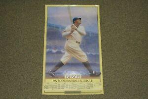 """Babe Ruth 1987 Anheuser-Busch - Kansas City Royals Schedule Poster - 14"""" x 23"""""""