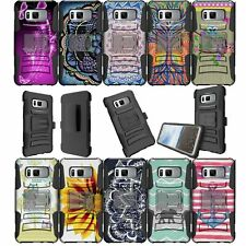For Samsung Galaxy Note 8 SM-N950 Dual Bumper Belt-Clip Kickstand Combo Cover