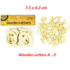4x Set of 26 Wooden Letter Lettersn Alphabet 7.5cm Craft School Project