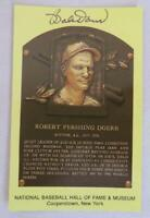 Original Authentic BOBBY DOER Signed Autograph HOF Plaque Postcard Baseball