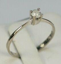 Damen Solitär Ring 585 Weißgold, Brillant 0,166 ct.