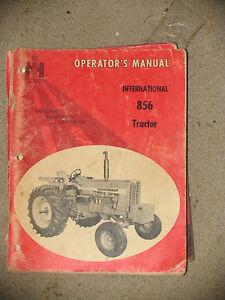 International IH Farmall Tractor 856 Operator's Manual