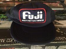 Vtg Fuji Fishing Hat Cap Trucker Snapback Patch