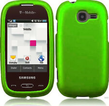 For T-Mobile Samsung Gravity Q T289 Protector Case Phone Cover Rubber Neon Green