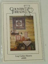 Quilt & Pillow Patterns from Country Threads: Log Cabin Hearts #103