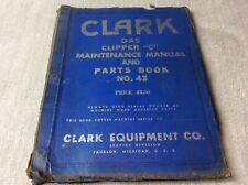 Clark Equipment Manual Gas Clipper C Maintenance Amp Parts Book No43