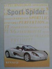 Prospekt Renault Sport Spider, 11.1997, 8 Seiten, Innenseiten ergeben ein Poster