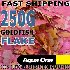 Aqua One Goldfish Koi Aquarium Fish Tank Quality Flake Food Bulk 250g Gold Fish