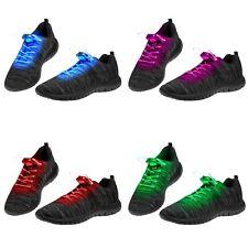 1-50 Pairs of LED Shoelaces Light Up Fibre Glow Flashing Luminous Shoe Laces UK