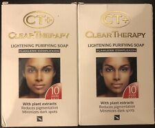 2Ct+ Clear Therapy Lightening Purifying Soap Minimizes Dark Spots In10 Days175g