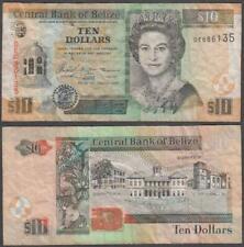 Belize - Elizabeth II, 10 Dollars, 2005, VF+, P-68(b)