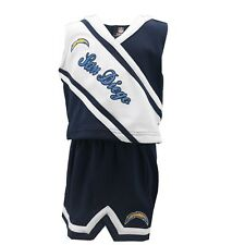 San Diego Chargers Nfl Official Toddler Cheerleader Style Dress with Skirt New