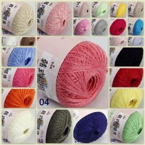 Sale New 1ballx50g Soft Cotton Lace Thread Crochet Lace Jewelry Knitting Yarn