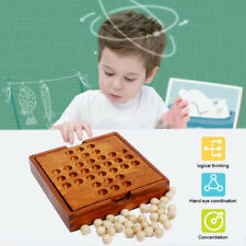 Wooden Family Kid Board Solitaire Games Single Chess Peg Diamond Kids Puzzle Toy