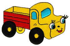 ag64 Gelb Auto Comic Laster Fahrzeug Pickup Aufnäher Bügelbild Patch 10 x 6,5 cm