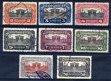 AUSTRIA 1919-21 Parliament definitive set perforated 11½ used