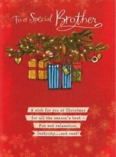 Hallmark 'To a Special Brother Parchments  Christmas Greeting Card New Gift Xma