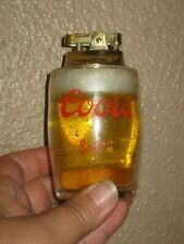 Coor's Beer Banquet Short Glass- Shorty- Cigarette Lighter Mini Brass Vintage