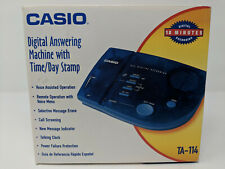 Complete CIB Casio Translucent Blue Answering Machine (TA-114)