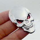 Silver Skull Skeleton Car/Motorcycle Decal Devil 3D Metal Sticker Emblem Badge