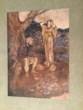 1907 - Edmund Dulac. Arabian Nights. Original Plate. Codadad