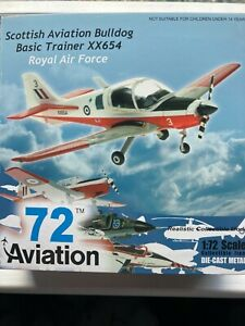 72 Aviation diecast metal. RAF Scottish Aviation Bulldog XX654