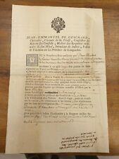 J. EMMANUEL DE GUIGNARD INTENDANT DU LANGUEDOC REPLANTER BEAUCAIRE 1753