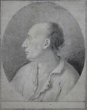 Bildnis eines Mannes Bleistiftzeichnung Frankreich 18.Jahrhundert