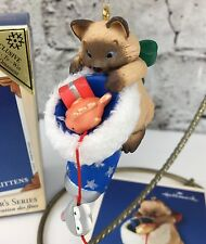 2003 Hallmark Mischievous Kittens Colorway Register to Win original box ornament