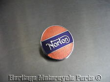 one new super new RED +BLUE ENAMEL metal PIN LAPEL BADGE Norton name in silver