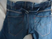 LEVIS ENGINEERED BUCKLE BACK TWISTED SEAM DENIM JEANS MENS TAG SIZE: 32x30