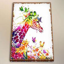 Print Modern kindergarten Decor Giraffe Canvas Art Watercolor Painting 24x32