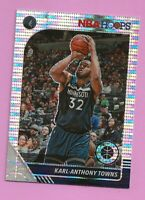 2019-20 NBA Premium Stock Silver Pulsar Prizm #111 Karl-Anthony Towns T'Wolves