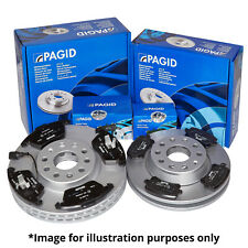 PAGID FRONT AND REAR AXLE BRAKE KIT BRAKE DISCS BRAKE PADS SET FOR VW GOLF